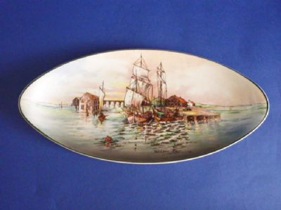 Vintage Royal Doulton 'Home Waters' Series Ware Oval Dish D6434 c1955